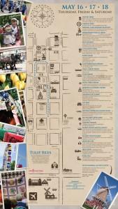 2013 Tulip Festival Map