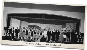 Cast photo from 1966 Night Show, the sound of music.