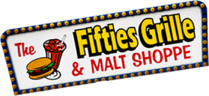 The fifties grille and malt shoppe booth sign