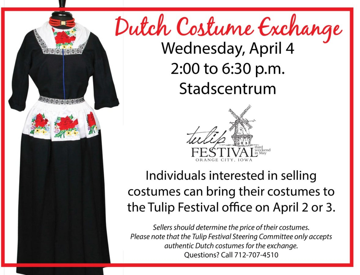 2018 Dutch Costume Exchange set for April 4 – Orange City